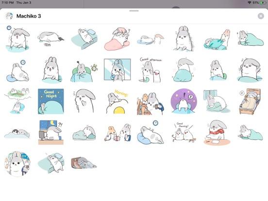 Rabbit Moji Pun Funny Stickers screenshot 4