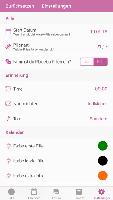 Screenshot for BC Pillen Erinnerung in Germany App Store