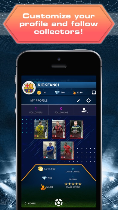 TOPPS® KICK® Card Trader Screenshot