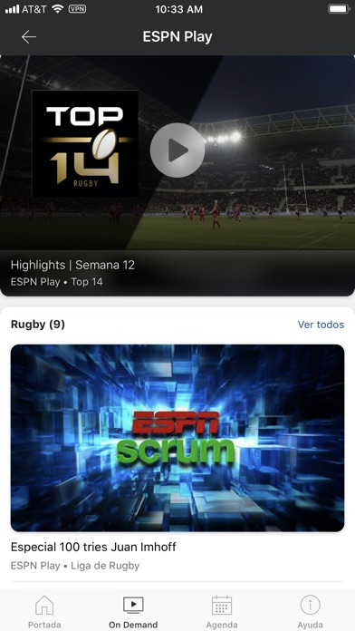 Screenshot for ESPN Play in Chile App Store