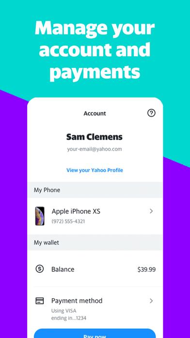 Yahoo Mobile - Wireless Plan screenshot 1