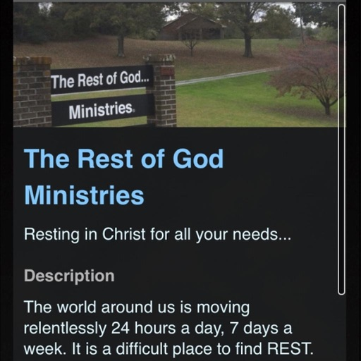 The Rest of God... Ministries
