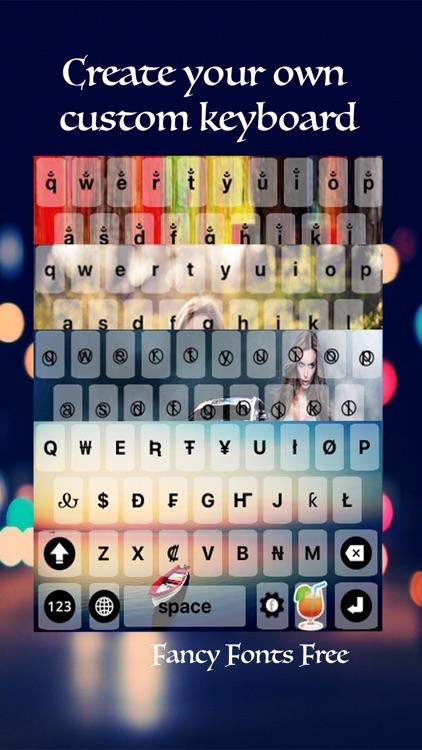 Fancy keyboard fonts