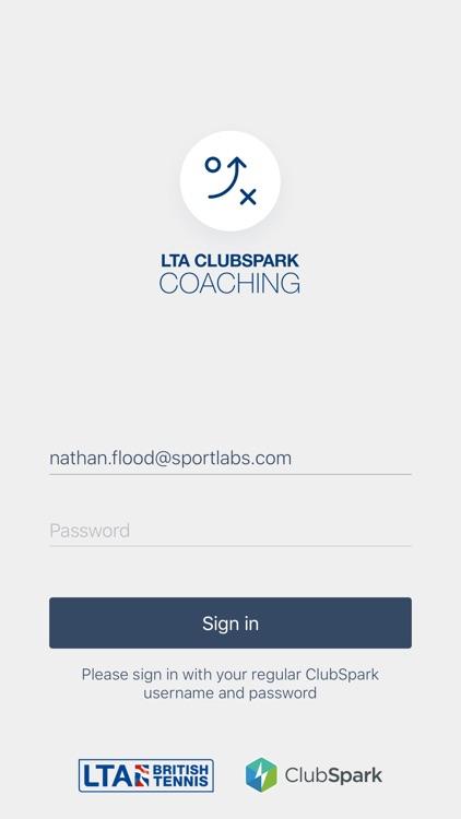 ClubSpark LTA Coaching