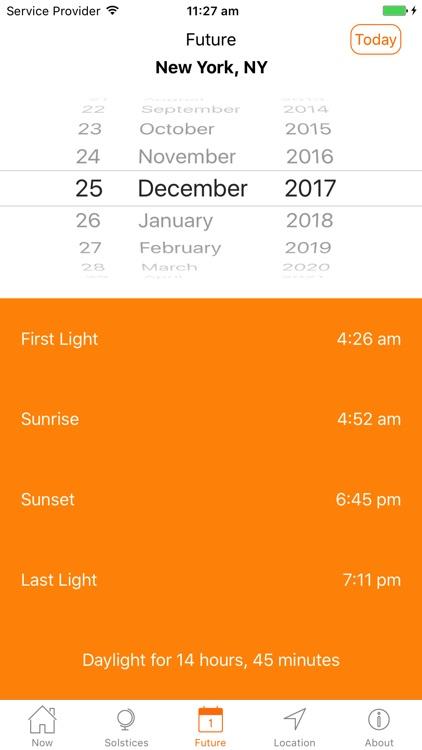 Sunrise Sunset Times screenshot-5