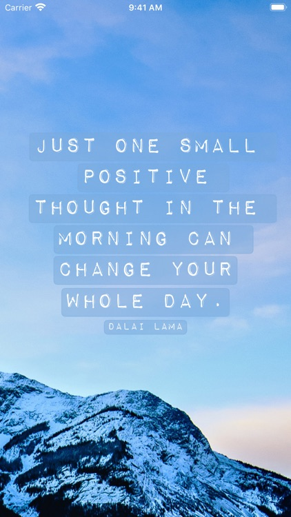 Daily Quote - Positive quotes screenshot-0