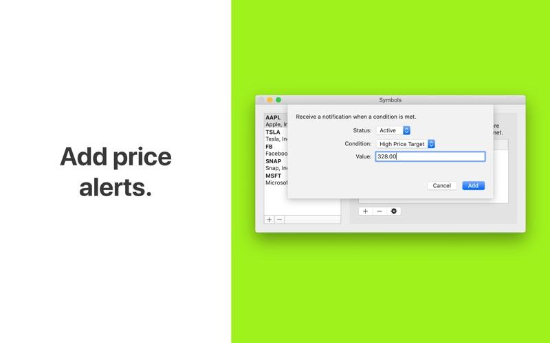 Uptick - Stock Ticker Screenshot