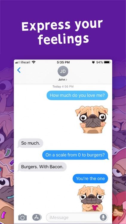 Pugly the Dog Emoji Stickers