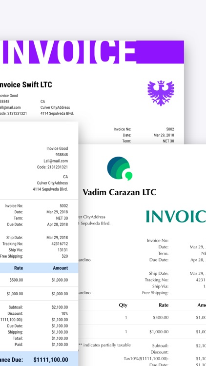 Invoice Maker, Swift Invoice screenshot-6