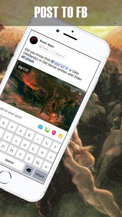 Screenshot for Rune tastatur: Runealfabet in Denmark App Store