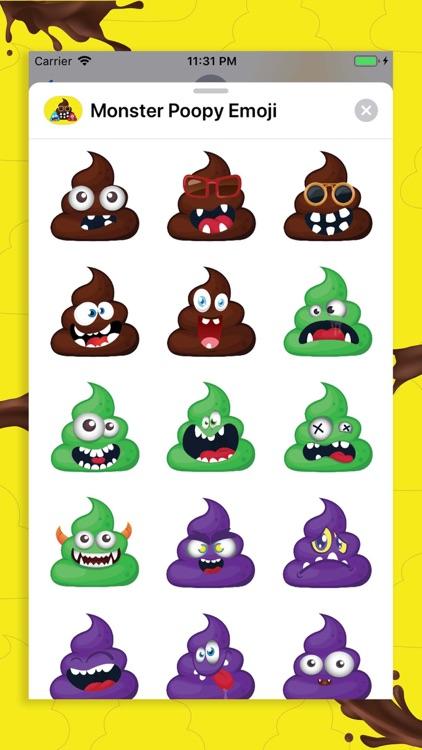 Monster Poopy Emoji screenshot-4