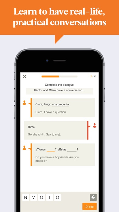 Babbel Learn Spanish review screenshots