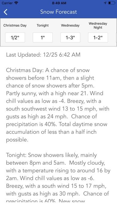 Snow Report & Forecast Screenshot