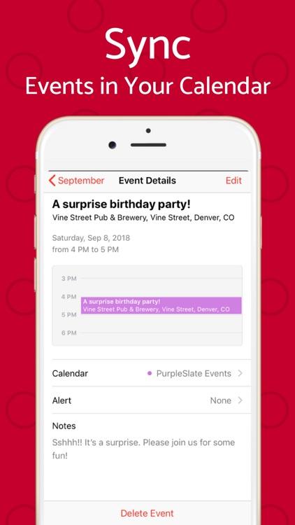 Text Invite Maker: PurpleSlate screenshot-6