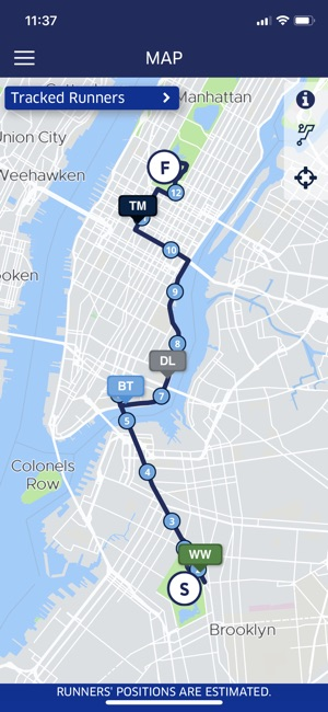 Map Of New York Marathon 2017.2019 United Airlines Nyc Half On The App Store