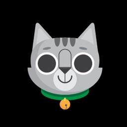 Gray Cat Bun Sticker