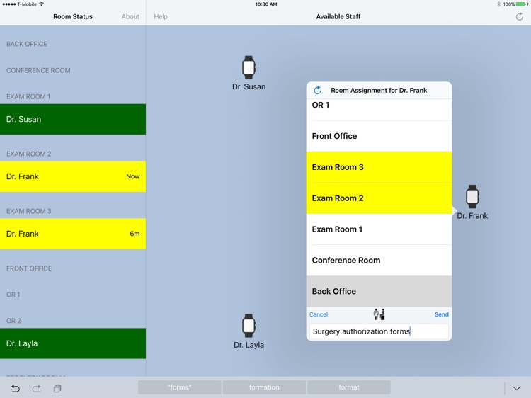 Patient is in (Charge Nurse) screenshot-3