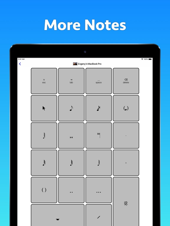 Sibelius KeyPad for Mac Screenshots