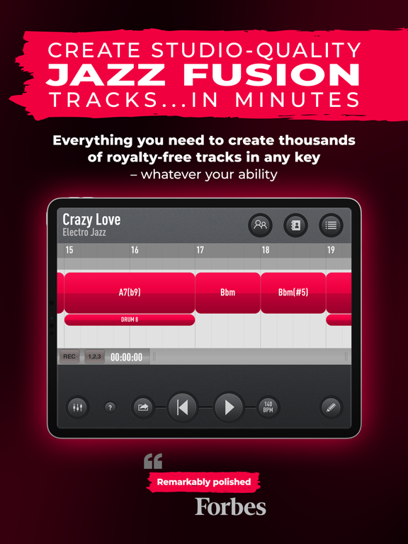SessionBand Jazz Fusion screenshot 10