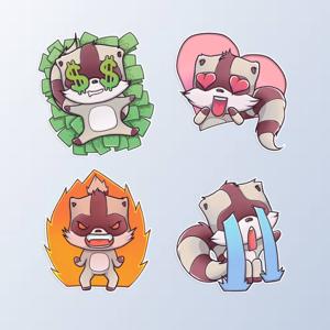 RaccoonMoji - Racoon Stickers - Stickers app