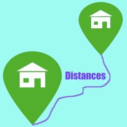 Distances Displacements Routes