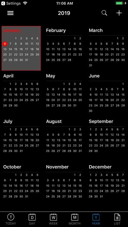 CalendarBlack Pro screenshot-5
