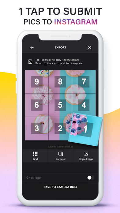Grids: Giant Square, Templates Screenshot