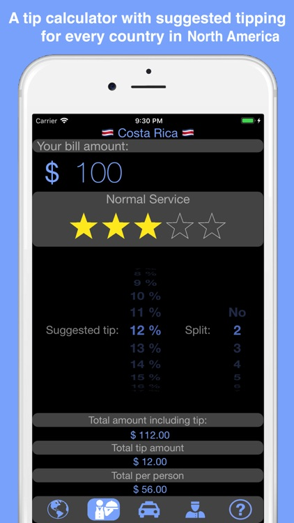 North America Tip Calculator screenshot-0
