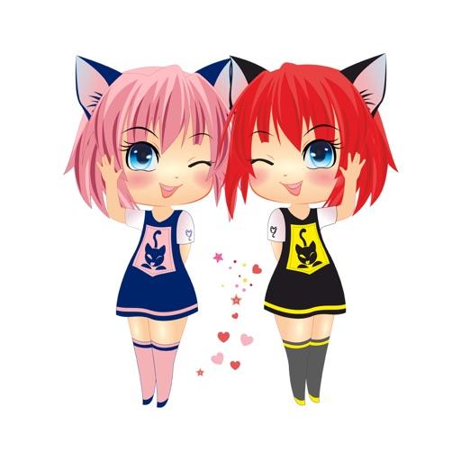 Sira & Mira Chibi Manga Emoji