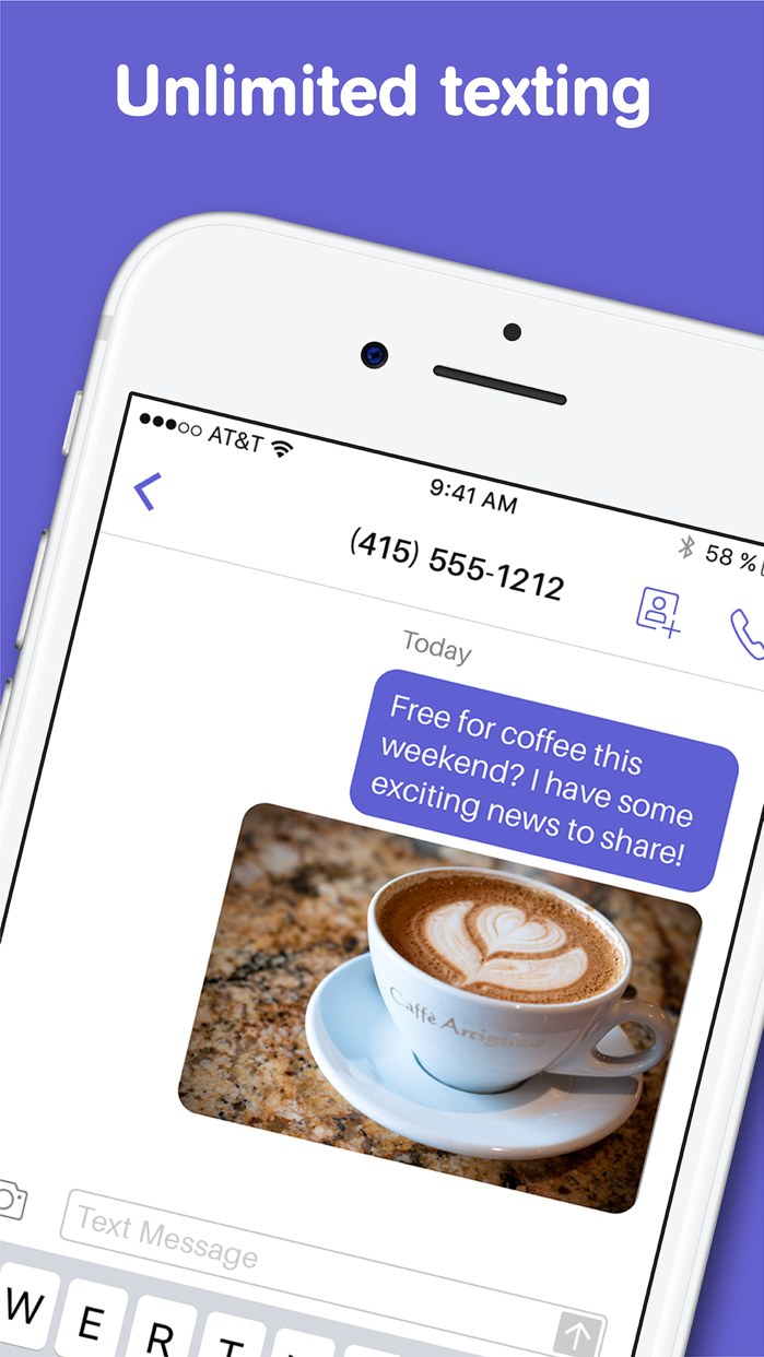 Text Free: Texting App + SMS Screenshot