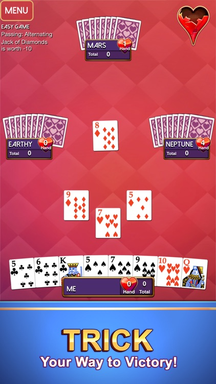 Hearts - Classic Card Game screenshot-4