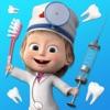 マーシャとくま 歯科手術と歯医者アイコン