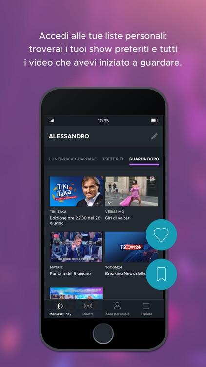 Mediaset Play screenshot-3