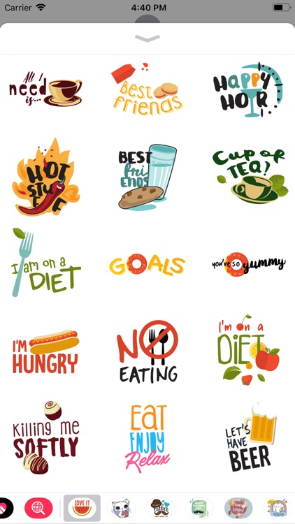 Love to Eat Labels & Stickers