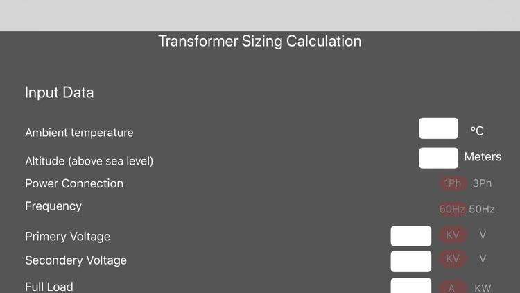 Transformer Sizing Calculation screenshot-5