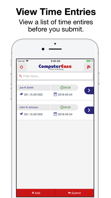 CE Time Entry screenshot four