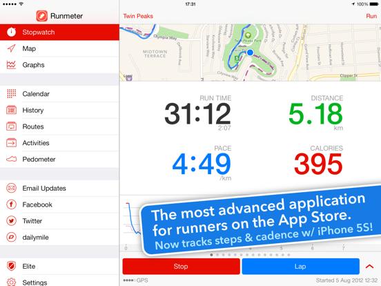 Runmeter Running & Cycling GPS iPad app afbeelding 1