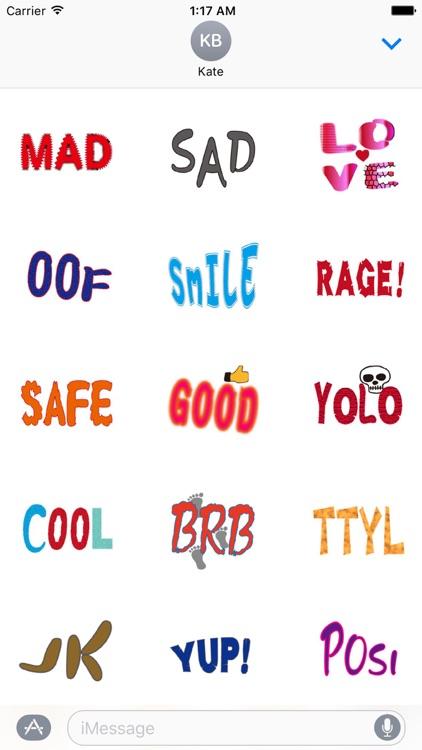 Common English Phrases Sticker