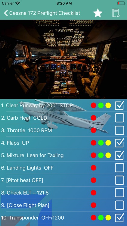 Cessna 172 Preflight Checklist screenshot-2