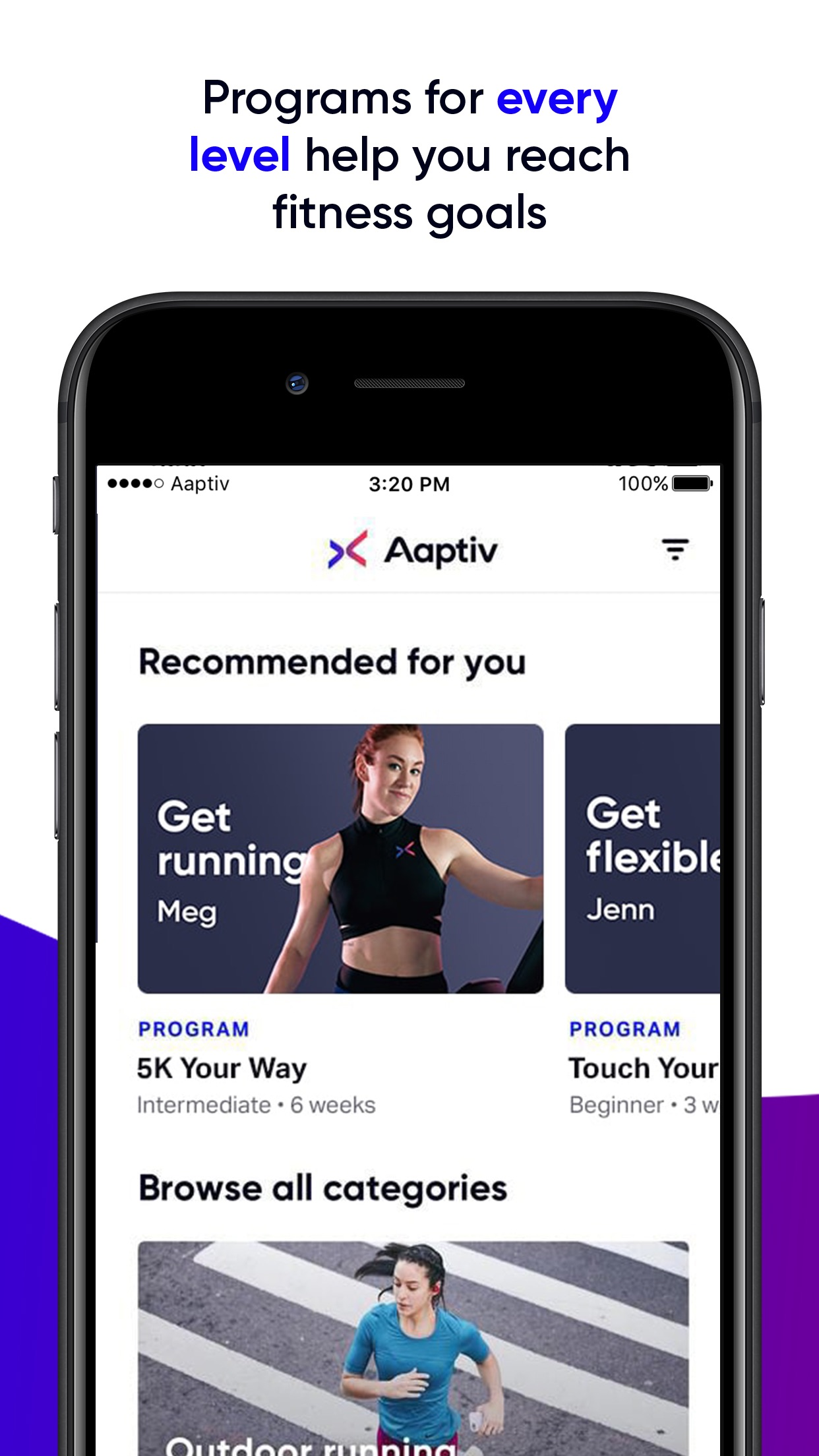 Aaptiv: #1 Audio Fitness App Screenshot