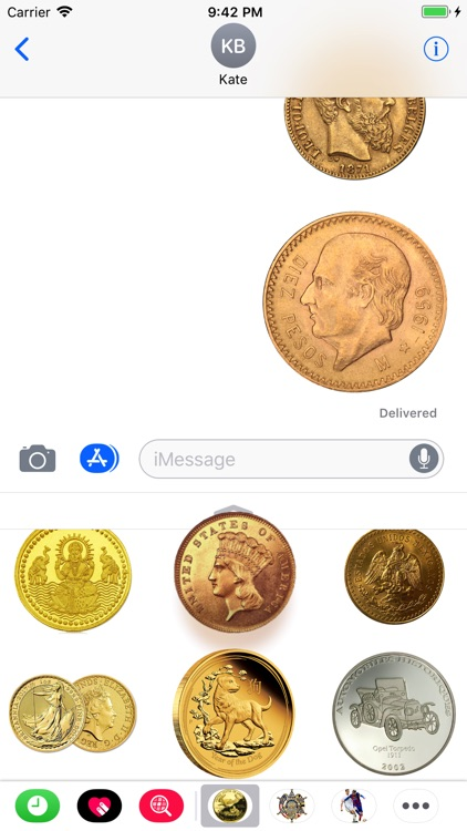 Coins Set Stickers