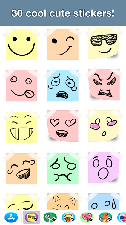 Paper emotion stickers