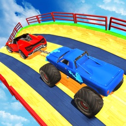 Double Chain Car Stunt Game 3D