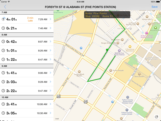 Transit Tracker - Atlanta-ipad-0