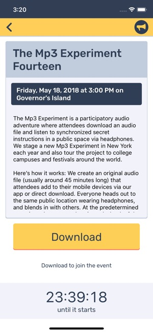 The Mp3 Experiment on the App Store