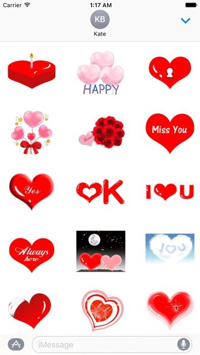 Love And Heart Sweet Sticker screenshot 2