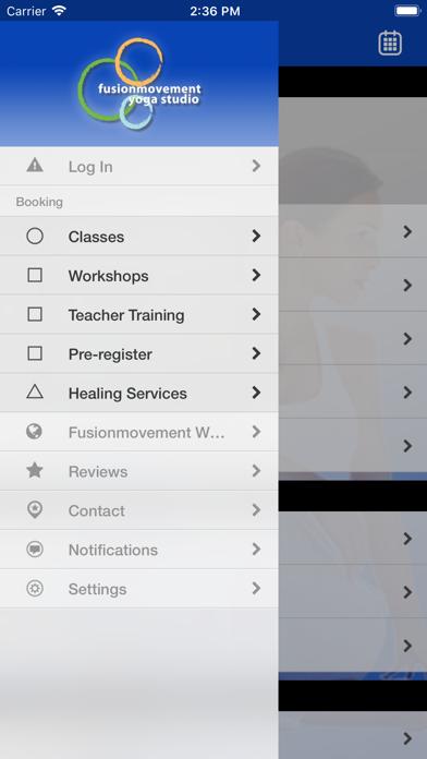 Fusionmovement Yoga studio screenshot two