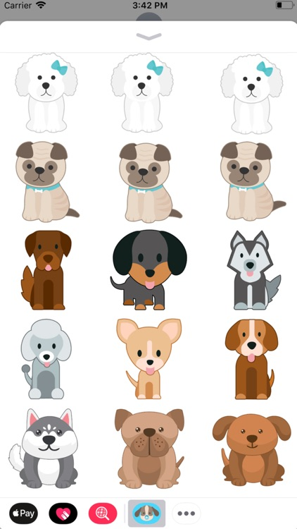Animated Crazy Dogs Stickers
