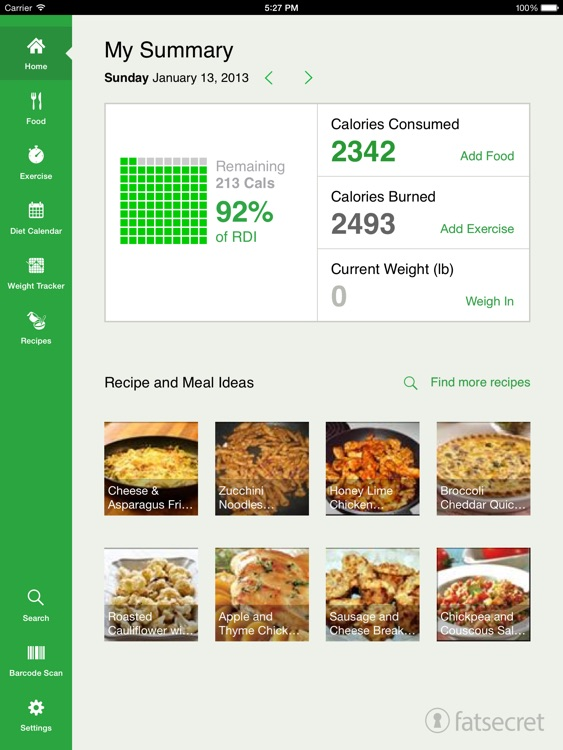 Calorie Counter for iPad