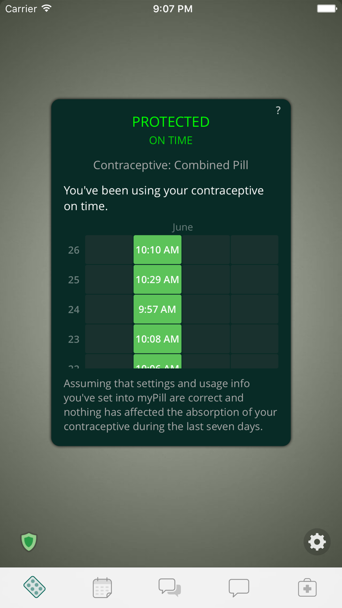 myPill® Birth Control Reminder Screenshot